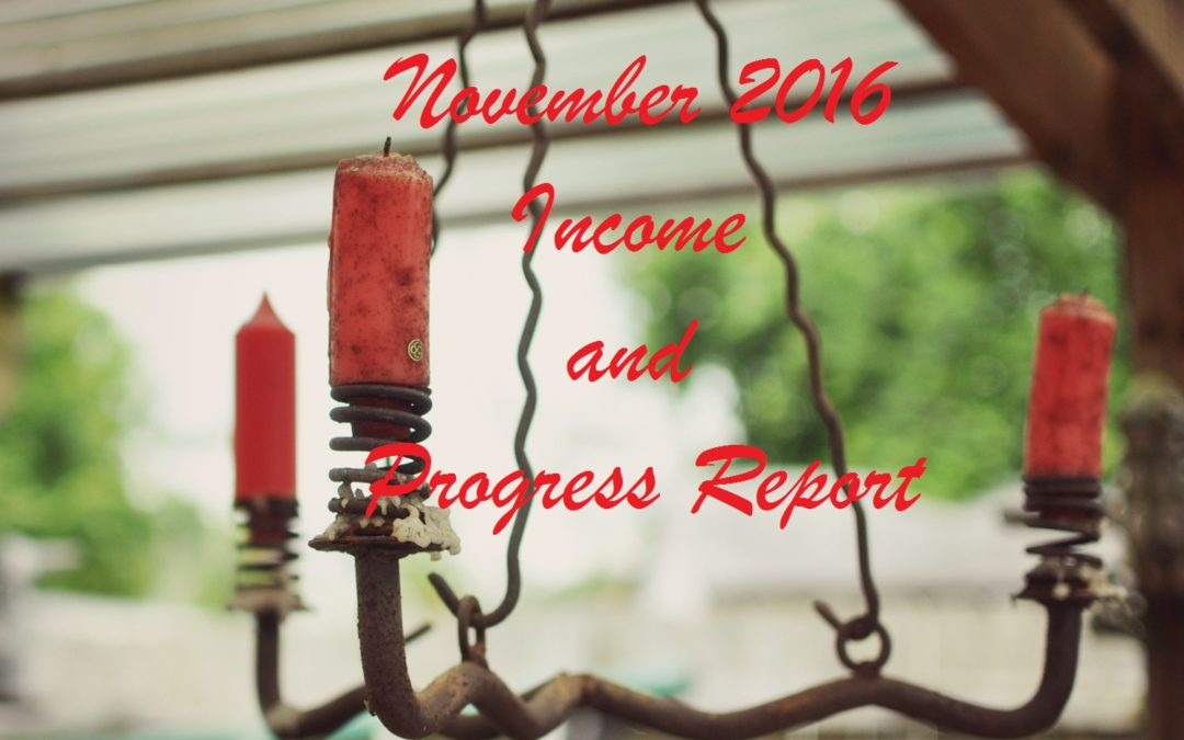 November 2016 Income and Progress Report