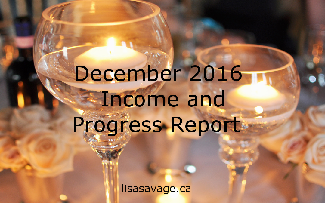 December 2016 Income and Progress Report