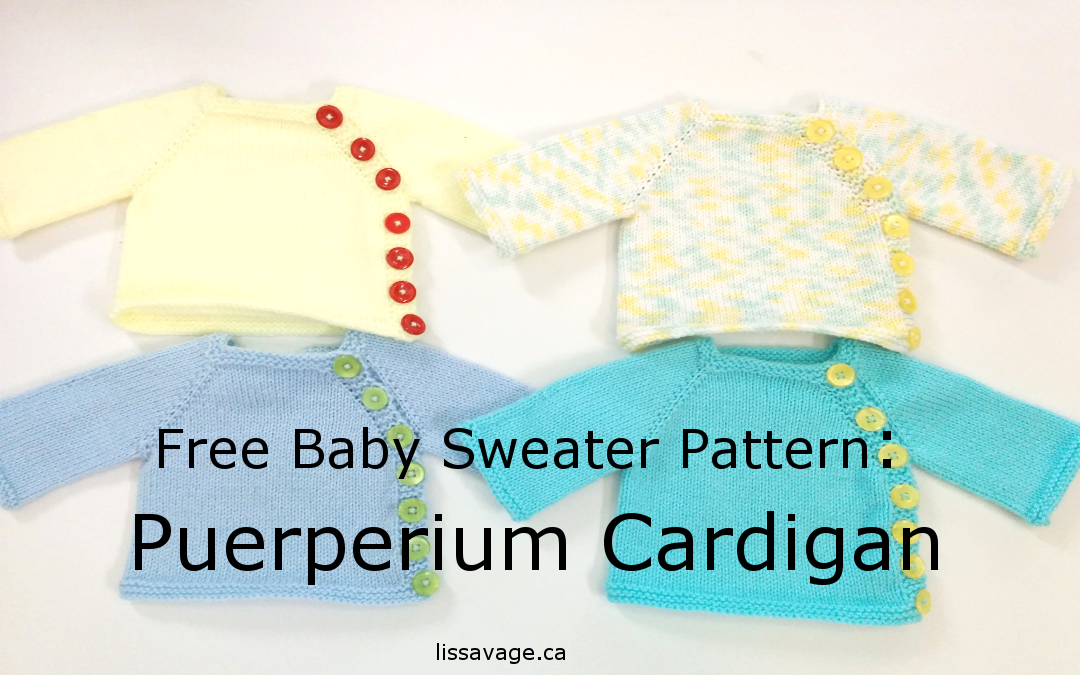 Free Baby Sweater Pattern: Puerperium Cardigan